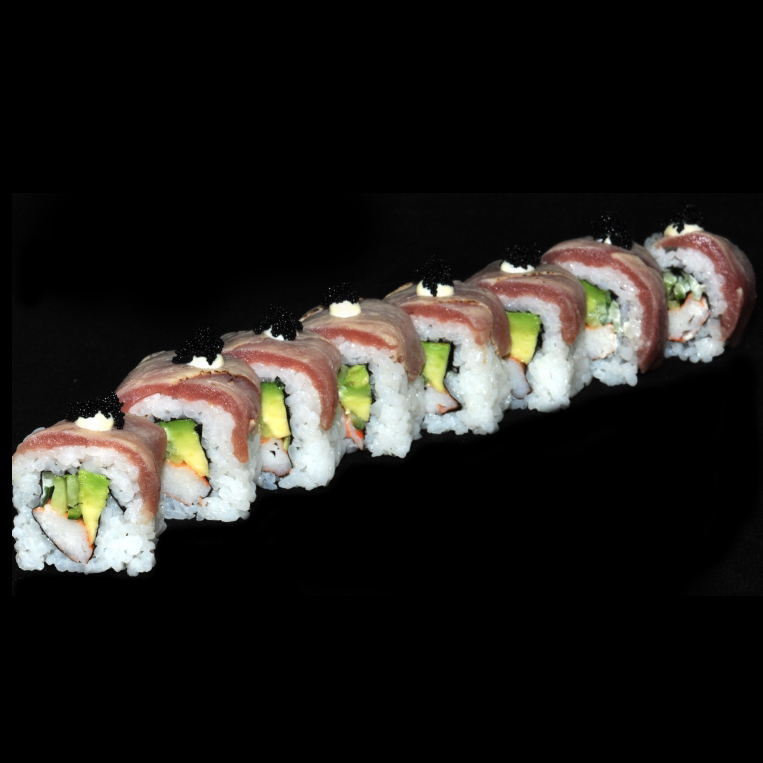 Flame Grilled Maguro roll